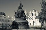 Millennium of Russia Monument with Saint Sophia Cathedral in the Background, Novgorod Kremlin Photographic Print by Green Light Collection