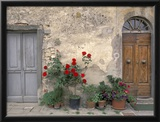 Tuscan Doorway in Castellina in Chianti, Italy Framed Photographic Print by Walter Bibikow