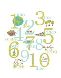 Spanish Numbers Posters af Rebecca Peragine