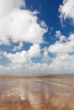 Clouds over Beach, Wadden Sea National Park, Westerheversand, Eiderstedt Peninsula Photographic Print by Green Light Collection