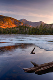 Morning Light on Whiteface Mountain and Spring Thaw on Copperas Pond, Adirondack Park Photographic Print by Green Light Collection