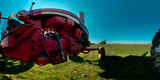 Tractor in a Field, Everett, Snohomish County, Washington State, USA Fotografisk tryk af Panoramic Images