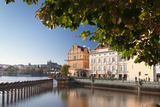Palace and Museum at the Riverside, Smetana Museum, Royal Palace, Vitava River, Prague Photographic Print by Green Light Collection
