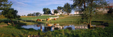 Horses Grazing at a Farm, Amish Country, Indiana, USA Photographic Print by  Panoramic Images