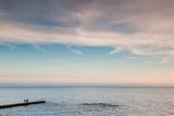 Pier Fishing, Lighthouse Beach, Sochi, Black Sea Coast, Krasnodar Krai, Russia Photographic Print by Green Light Collection