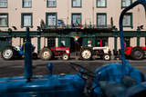 Vintage Tractors Lined Up Outside Lalors Hotel, Dungarvan, County Waterford, Ireland Photographic Print by Green Light Collection