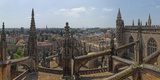 City View from a Cathedral Roof, Seville Cathedral, Seville, Andalusia, Spain Photographic Print by  Panoramic Images