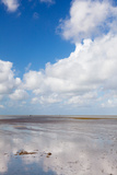 Clouds over Beach, Wattenmeer Bei Ebbe, Westerheversand, Halbinsel Eiderstedt Photographic Print by Green Light Collection