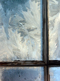 Ice Crystals on Windowpanes Photographic Print by Green Light Collection