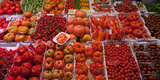 Tomatoes at a Market Stall, Santa Caterina Market, Barcelona, Catalonia, Spain Photographic Print by  Panoramic Images