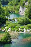 High Angle View of Lakes, Gavanovac Lake, Milanovac Lake, Plitvice Lakes National Park, Croatia Photographic Print by Green Light Collection