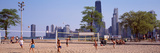 People Playing Beach Volleyball, Chicago, Cook County, Illinois, USA Photographic Print by  Panoramic Images