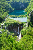 High Angle View of a Lake, Gavanovac Lake, Plitvice Lakes National Park, Croatia Photographic Print by Green Light Collection