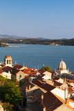 High Angle View of a Cathedral in a Town on the Coast, Sibenik Cathedral, Sibenik, Dalmatia Photographic Print by Green Light Collection
