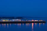 Harbor and Municipal Wharf at Dusk, Santa Cruz, California, USA Photographic Print by Green Light Collection