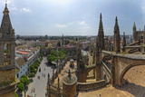 City View from a Cathedral Roof, Seville Cathedral, Seville, Andalusia, Spain Photographic Print by Green Light Collection