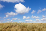Cumulus Clouds and Dune Landscape, Ellenbogen, Sylt, Nordfriesland, Schleswig-Holstein, Germany Photographic Print by Green Light Collection
