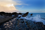 Waves and Rocks , Dungarvan Bay, County Waterford, Ireland Photographic Print by Green Light Collection