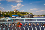 Love Padlocks at the Town Park, Volga Riverfront, Yaroslavl, Russia Photographic Print by Green Light Collection