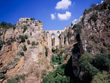 Puente Nuevo Bridge Above the Gorge of the Guadalevin River, Ronda, Malaga Province, Andalusia Photographic Print by Green Light Collection