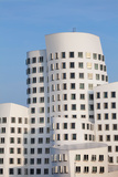 Neuer Zollhof Buildings Designed by Frank Gehry, Media Harbour, Dusseldorf Photographic Print by Green Light Collection