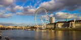 Ferris Wheel at the Waterfront, Millennium Wheel, London County Hall, Thames River, London, England Photographic Print by  Panoramic Images