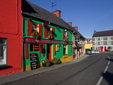 Colourful Cafe in Kilgarvan Village, County Kerry, Ireland Photographic Print by Green Light Collection