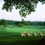 Adirondack Chairs in a Golf Course, Columbia Country Club, Chevy Chase, Maryland, USA Photographic Print by Green Light Collection