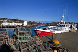 The Fishing Harbour, Dunmore East Fishing Port, County Waterford, Ireland Photographic Print by Green Light Collection