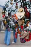 Love Padlocks on Footbridge by Repin Square, Zamoskvorechiye-Area, Moscow, Russia Photographic Print by Green Light Collection