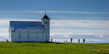 The Church of Flatey, Flatey Island, Borgarfjordur, Iceland Photographic Print by Green Light Collection