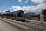 Luas Tram on the Sean Heuston Bridge, Dublin City, Ireland Photographic Print by Green Light Collection