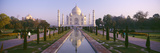 Reflection of a Mausoleum on Water, Taj Mahal, Agra, Uttar Pradesh, India Fotografisk tryk af Panoramic Images,
