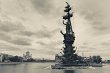 Peter the Great Monument in the Moscva River, Zamoskvorechye-Area, Moscow, Russia Photographic Print by Green Light Collection