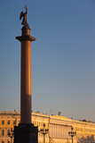 Alexander Column and the General Staff Building at Sunset, Dvortsovaya Square, St. Petersburg Photographic Print by Green Light Collection