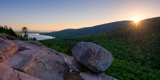 Sunrise on Bubble Rock, Acadia National Park, Maine, USA Photographic Print by  Panoramic Images