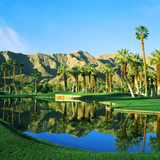 Reflection of Trees on Water in a Golf Course, Thunderbird Country Club, Rancho Mirage Photographic Print by Green Light Collection