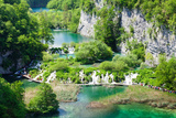 High Angle View of Lakes, Gavanovac Lake, Milanovac Lake, Plitvice Lakes National Park, Croatia Photographic Print by Green Light Collection