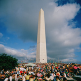 People at Washington Monument, the Mall, Washington Dc, USA Photographic Print by Green Light Collection