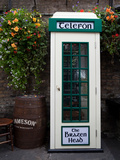 Telephone Kiosk, the Brazen Head Pub, Bridge Street, Dublin City, Ireland Photographic Print by Green Light Collection
