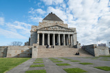 Tourists at Shrine of Remembrance, Melbourne, Victoria, Australia Photographic Print by Green Light Collection