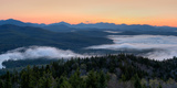 Dawn over the High Peaks from Goodnow Mountain, Adirondack Park, New York State, USA Photographic Print by  Panoramic Images