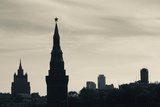 Silhouette of Kremlin Towers, Moscow, Russia Photographic Print by Green Light Collection