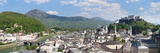 High Angle View of the Old Town with Hohensalzburg Castle, Dom Cathedral Photographic Print by  Panoramic Images