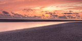 Sunset at the Bay of Mont Saint-Michel, Manche, Basse-Normandy, France Photographic Print by  Panoramic Images