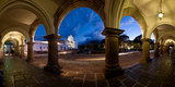 Palace at Dusk, Palacio De Los Capitanes Generale, Antigua Guatemala, Guatemala Photographic Print by  Panoramic Images
