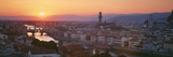Sunset over a City, Florence, Tuscany, Italy Lámina fotográfica por Panoramic Images,
