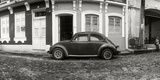 Small Old Car Parked in Front of Building, Pelourinho, Salvador, Bahia, Brazil Photographic Print by  Panoramic Images