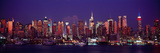 Buildings Lit Up at Dusk, Manhattan, New York City, New York State, USA Photographic Print by  Panoramic Images