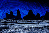 Digial Composite of Large Rocks and the Sea, Iceland Photographic Print by Green Light Collection